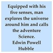 An amazing quote from Edwin Hubble