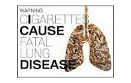 Smoking can cause lung disease
