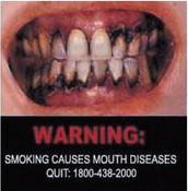 Cigarettes are a no-no.