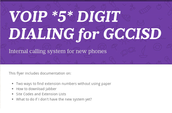 5 Digit Dialing District Wide