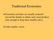 About Traditional Economies
