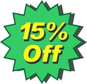 15% off any project