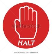 Vocabulary Word 1: Halt