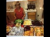 My grandma cooking