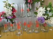 Tall Monogrammed Vases