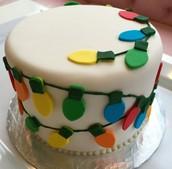 Holiday Lights Cake!