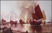 Battle during opium war