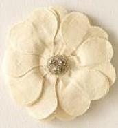 Bardot Flower (fabric) Brooch