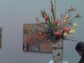 A painting or a floral arrangement, who knew?