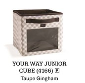 Your WayYour Way Junior Cube - Taupe Gingham