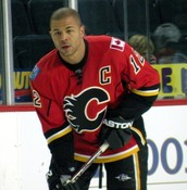 Jarome Iginla during his 9 years with the Calgary Flames