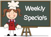 Special's Schedule