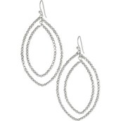 Bardot Hoop Earrings - Silver - $20