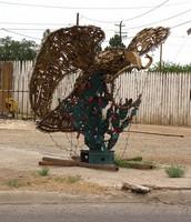 Metal Bird Statue