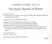 The Negro Speaks Of River