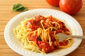 Tomato Sauce in Noodles