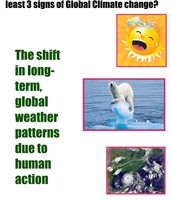 Climate Change and Three Signs?