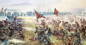 An illustration of The Battle of Gettysburg.