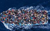 PEOPLE ON A BOAT MIGRATING!!!!!