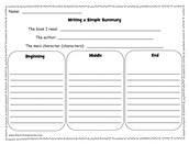 Fiction Book Response  (Writing)