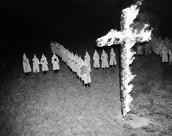 KKK Burning a Cross