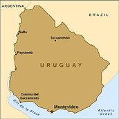 THIS IS THE MAP OF URUGUAY