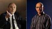 """מנכ""""ל פרטנר איציק בנבינישתי (מימין) ומנכ""""ל אורנג' העולמית סטפן רישאר"""