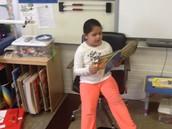 Reading in Mrs. Buffaloe's classroom.