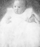 Hughes as a baby