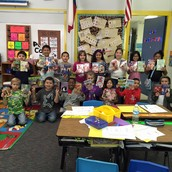 2nd grade with their books