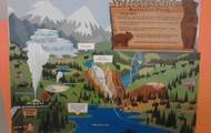 Puzzle map of Yellowstone National Park