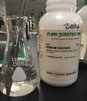 Sodium sulfate in water