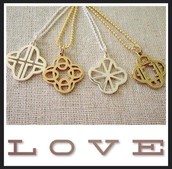 Initial charms in our signature clover