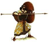 Thrusting spear
