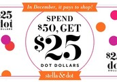 You earned Dot Dollars in December- Now it's time to spend them!
