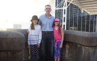 Me my dad and my best friend gemma in sydney