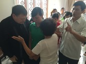 Leading a young lady to repentance before receiving the Holy Ghost.