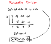 Factorable Synthetic Division #2