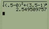 Distance between E,G