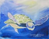 Pastel Sea Turtle