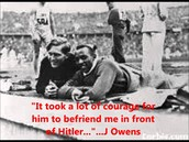 Jesse Owens and Lutz Long