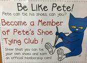 Pete's Shoe Tying Club!!