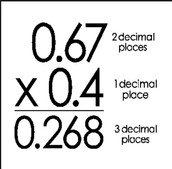 Multiply decimals: