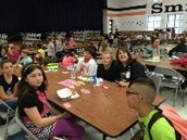 Enjoying lunch with Mrs. Campbell