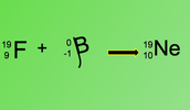 Beta decay of fluorine-19