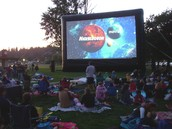 Watch a movie outdoors!