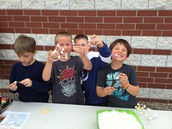 Eating more marshmallows than they were building with... :)