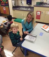Ms. Lori taking the extra effort to ensure each child is reaching his/her full potential