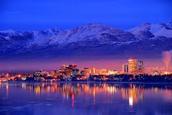 Alaska at night