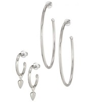 Orbit Hoop Earrings -Silver